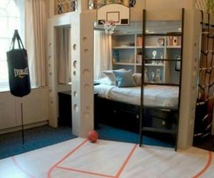 room, Basketball, and bedroom image