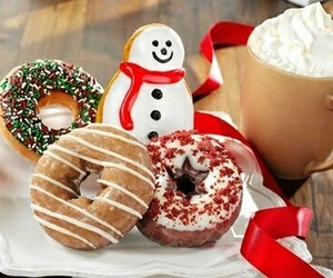 christmas, donuts, and winter image