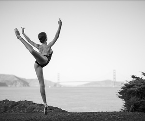 ballet and black anf white image