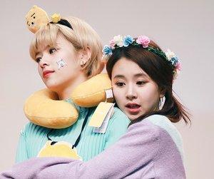 twice, chaeyoung, and jeongyeon image