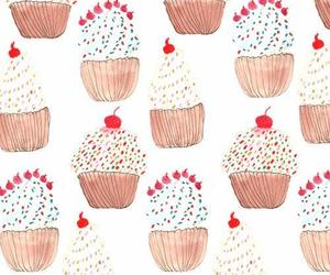 background, cupcake, and drawing image