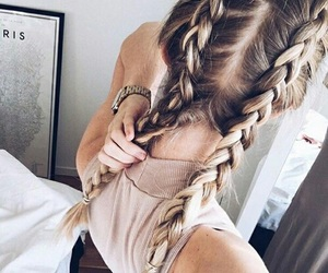 beuty, blond, and brunette image