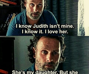 judith, twd, and rick grimes image