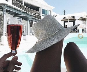 bikini, goals, and drinks image