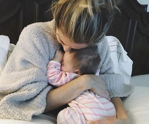 baby, mom, and cute image