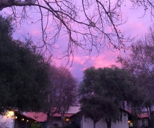 sky, nature, and purple image