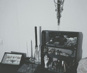 goth, gothic, and home decor image