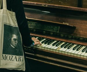 piano, Mozart, and music image
