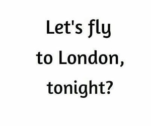 london, fly, and quote image