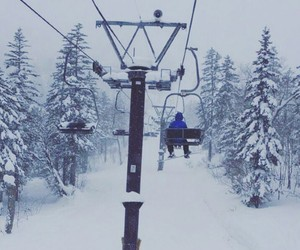 chairlift, fun, and snow image