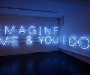 imagine, neon, and light image