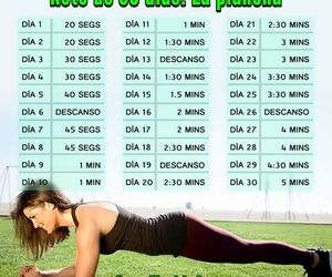 exercise, fitness, and plancha image