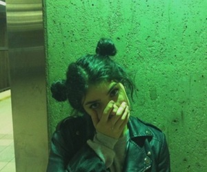 girl, grunge, and green image