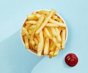 food, blue, and minimalist image
