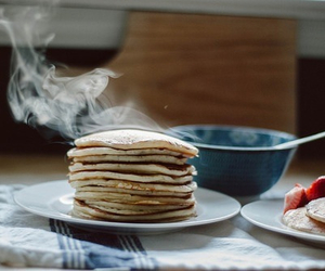 pancakes, food, and vintage image
