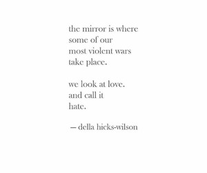 hate, mirror, and poems image