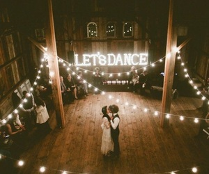 wedding, couple, and dance image