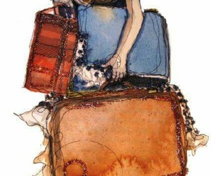 travel, drawing, and art image
