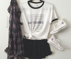 outfit, tumblr, and converse image