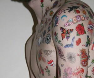 pale, tattoo, and body image