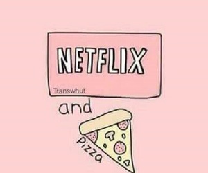 pizza, netflix, and wallpaper image