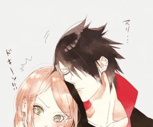 sasusaku, sasuke uchiha, and naruto image