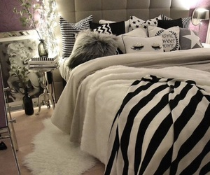 bedroom, bed, and girly image