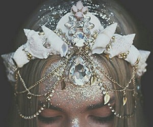 crown, mermaid, and fantasy image