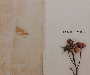 flowers, book, and jane eyre image
