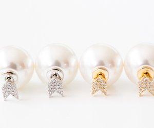 gold earring, wedding earrings, and stud earring image