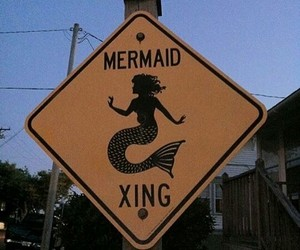 mermaid and sign image