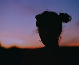 girl, sunset, and grunge image
