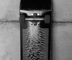 joy division, skate, and skateboard image