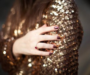 fashion, gold, and nails image