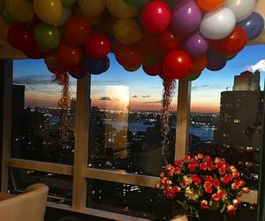 surprise, balloons, and flowers image