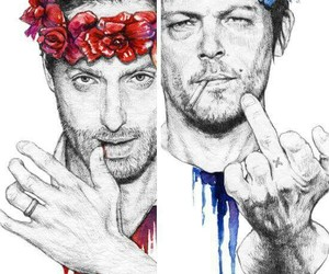 rick, the walking dead, and daryl image