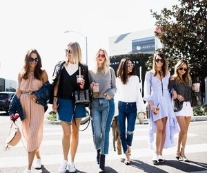 bloggers, friends, and fashion image