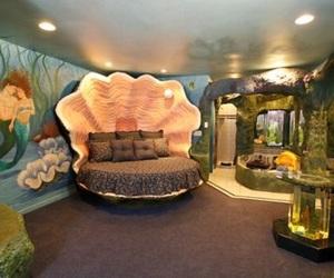 bedroom, mermaid, and room image