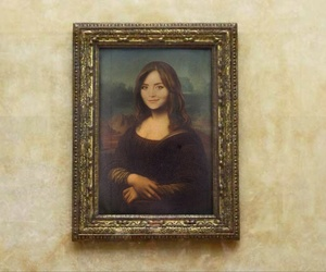 doctor who, Leonardo da Vinci, and mona lisa image