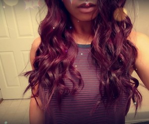 curly, red, and dyed image