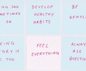 quotes, blue, and pink image