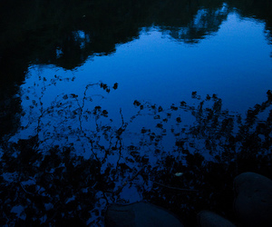 blue, dark, and water image