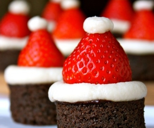 strawberry, christmas, and food image