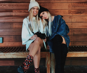 beanie, sister, and boots image