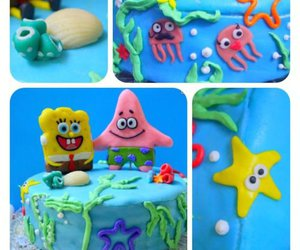 birthday cake, coral, and fondant image
