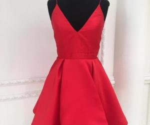 red dress, semi formal, and homecoming dresses image