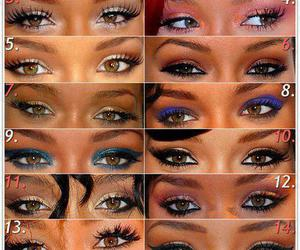 rihanna, eyes, and make up image