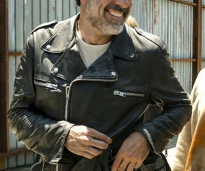negan, twd, and black and white image