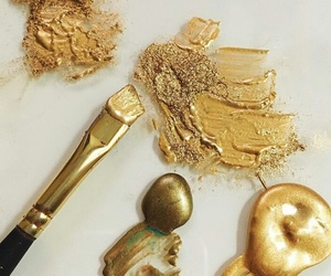 gold, paint, and sparkles image
