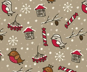 wallpaper, christmas, and birds image